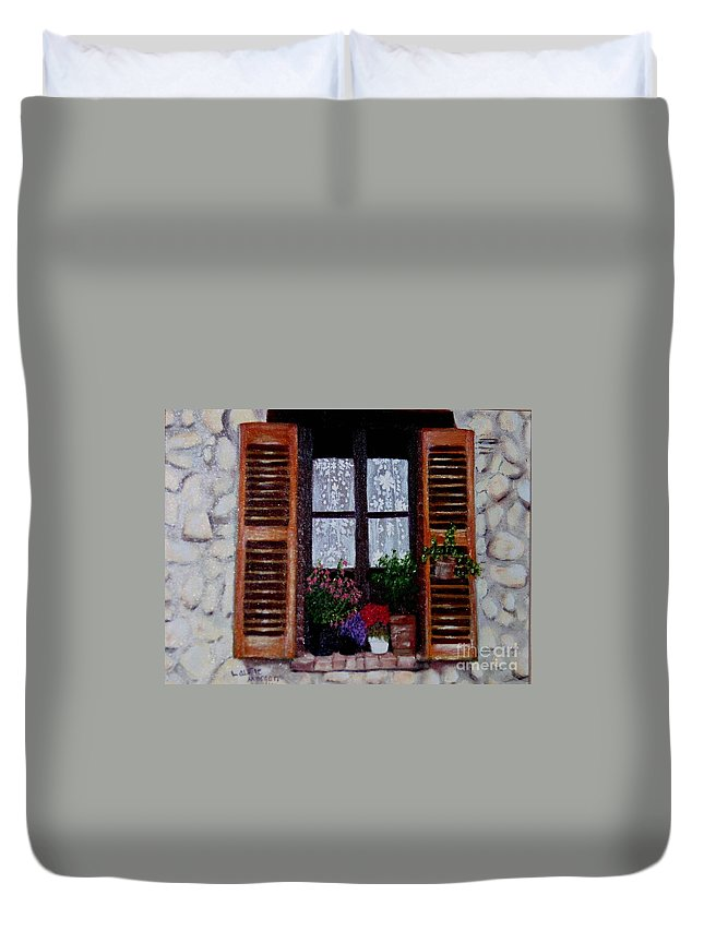 Provence Duvet Cover featuring the painting Provence Morning by Laurie Morgan