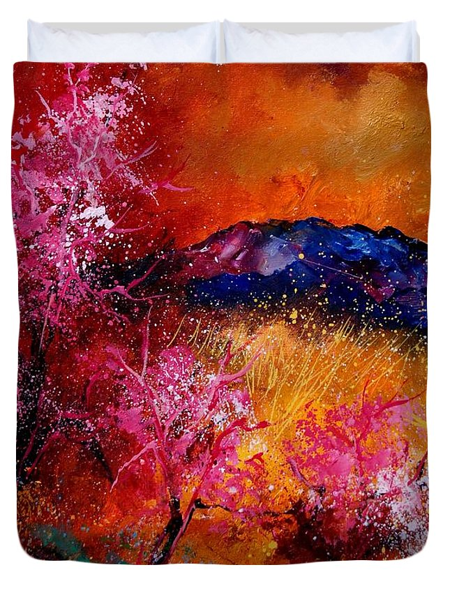 Provence Duvet Cover featuring the painting Provence560908 by Pol Ledent