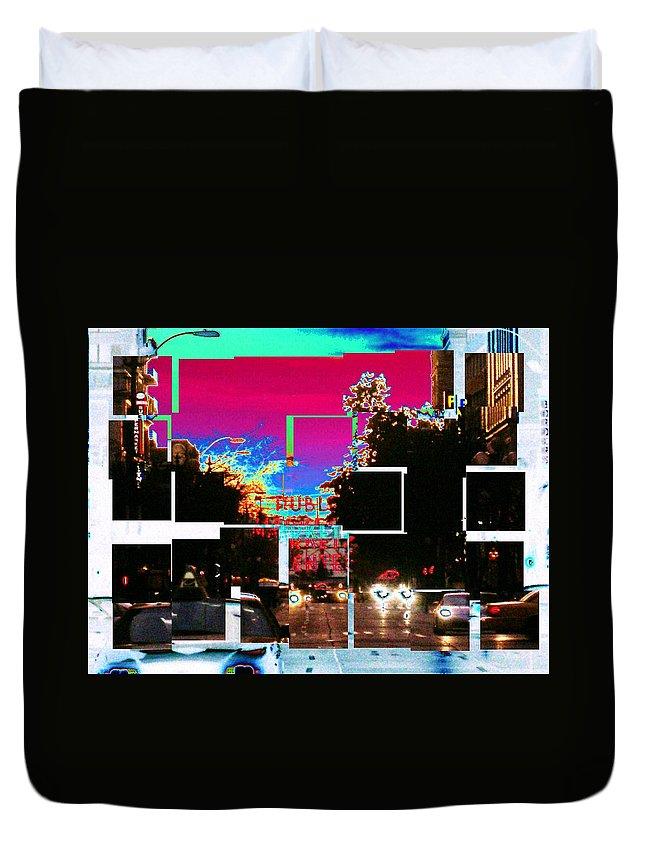 Seatttle Duvet Cover featuring the photograph Public Market Center by Tim Allen