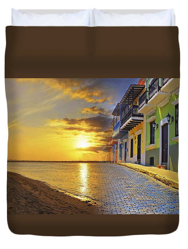 Puerto Rico Duvet Cover featuring the photograph Puerto Rico Montage 1 by Stephen Anderson