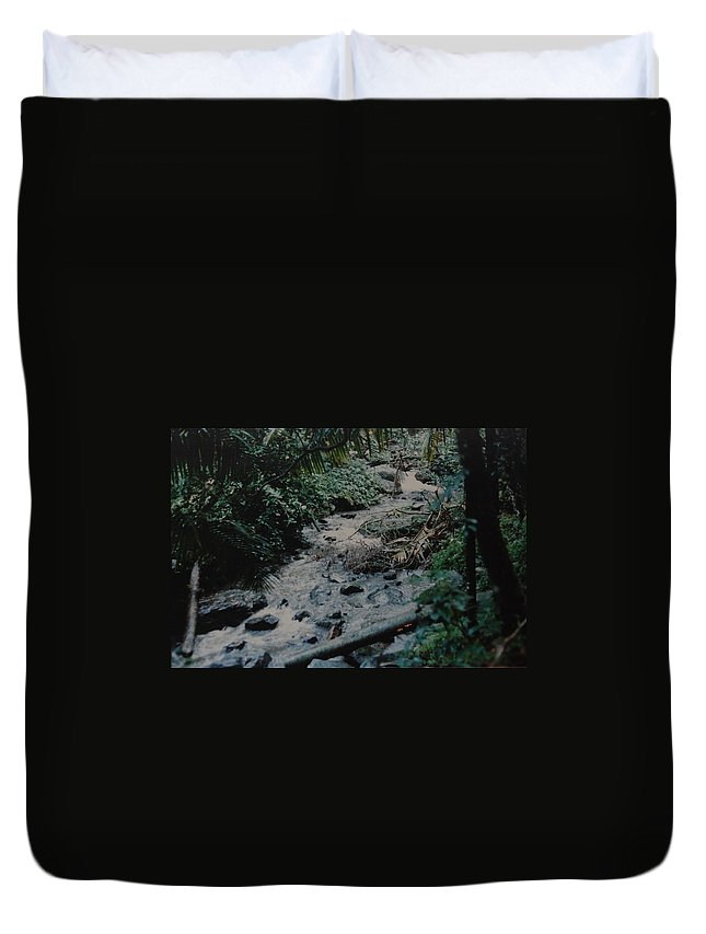 Trees Duvet Cover featuring the photograph Puerto Rico Water by Rob Hans