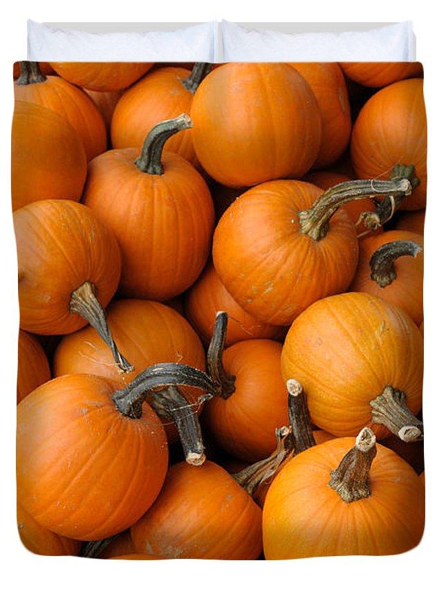 Pumpkin Duvet Cover featuring the photograph Pumpkins by Bradford Martin
