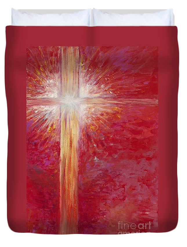 Light Duvet Cover featuring the painting Pure Light by Nadine Rippelmeyer
