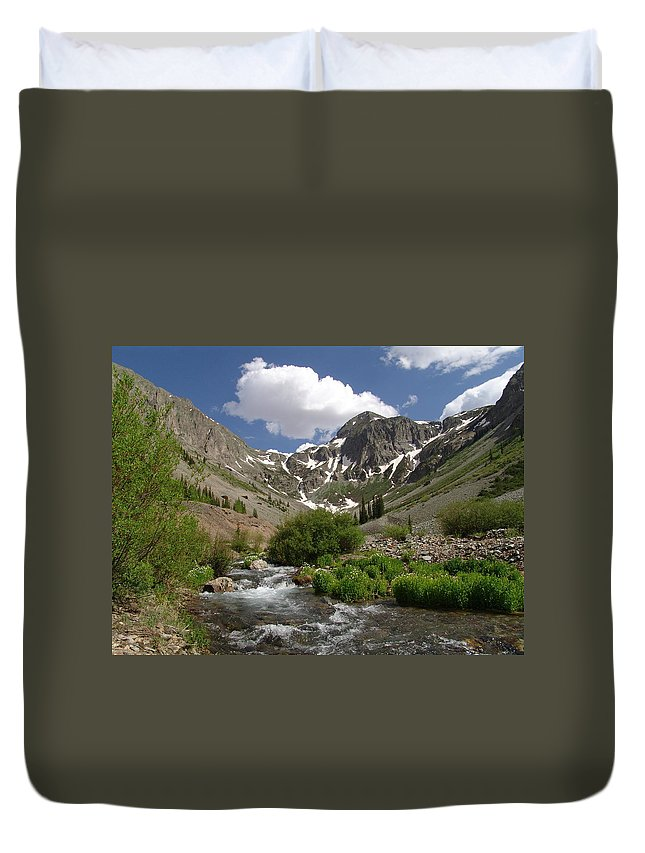 Trees Duvet Cover featuring the photograph Pure Mountain Beauty by Carol Milisen