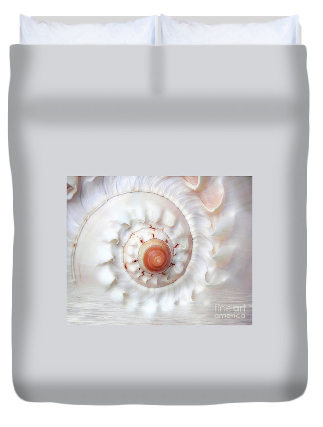 White Duvet Cover featuring the photograph Purify by Jacky Gerritsen