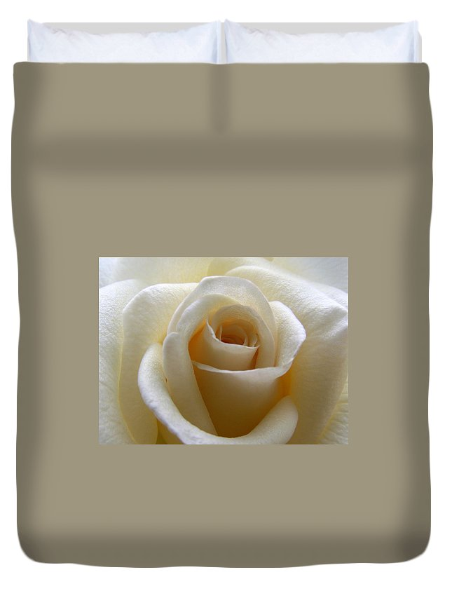 Rose Duvet Cover featuring the photograph Purity by Amy Fose