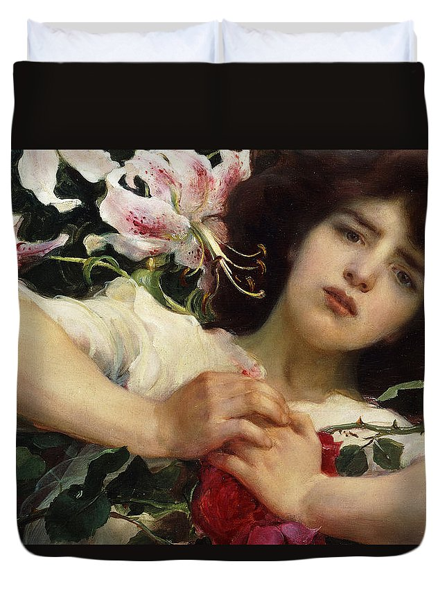 Purity And Passion Duvet Cover featuring the painting Purity And Passion by Franz Dvorak