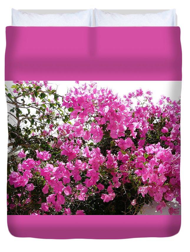 Flower Duvet Cover featuring the photograph Purple Abundance by Valerie Ornstein