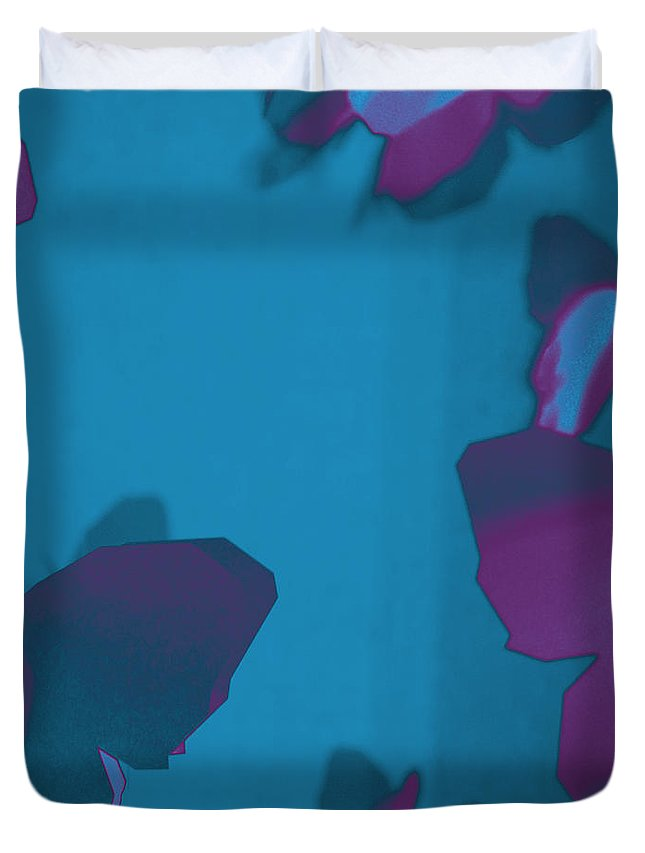 Abstract Duvet Cover featuring the photograph Purple And Turquoise Butterflies by Chay Bewley