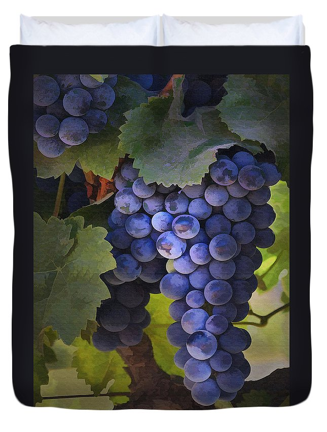Grape Duvet Cover featuring the photograph Purple Blush by Sharon Foster