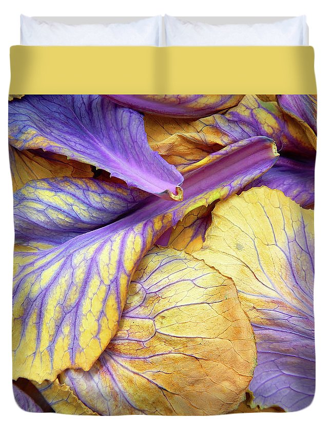 Poppy Duvet Cover featuring the photograph Purple Cabbage by Tina M Wenger