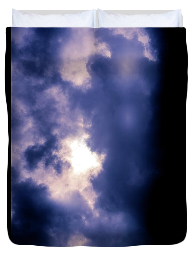Clouds Duvet Cover featuring the photograph Purple Clouds by Matthew Nelson