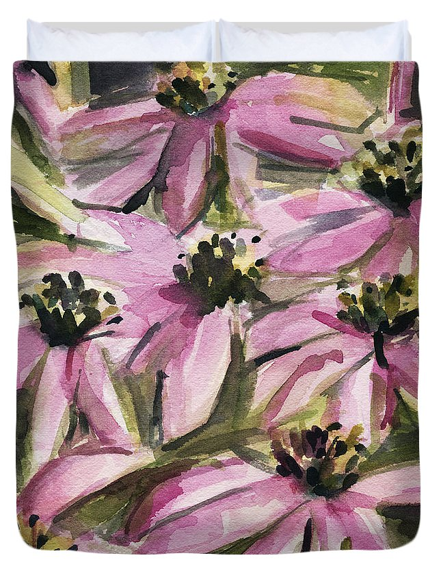 Pink And Purple Flowers Duvet Covers