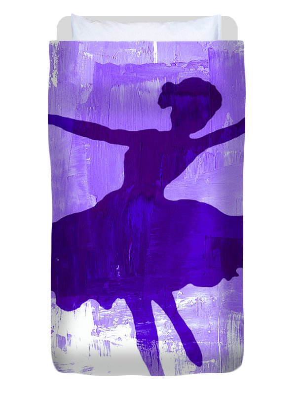 Dancer Duvet Cover featuring the digital art Purple Dancer by Mindy Bench