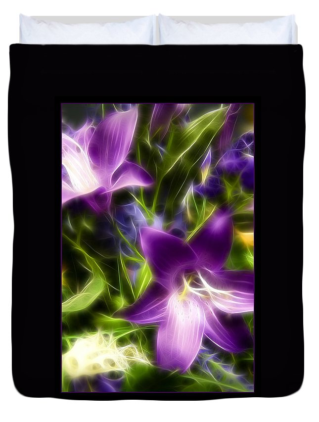 Flower Duvet Cover featuring the photograph Purple Dream by Ricky Barnard
