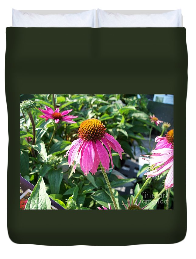 Floral Duvet Cover featuring the photograph Purple Flower by Eric Schiabor