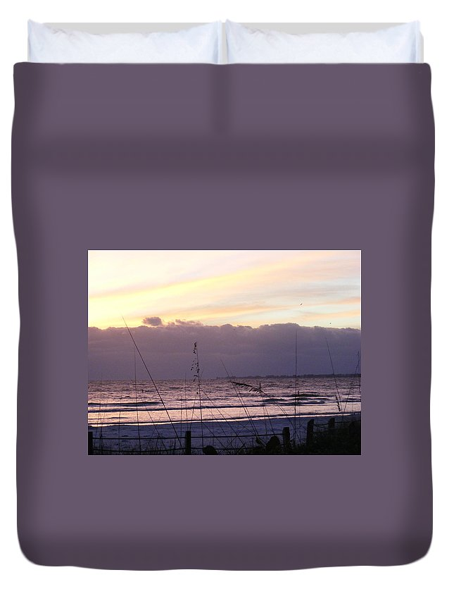 Landscape Duvet Cover featuring the photograph Purple Haze by Ed Smith