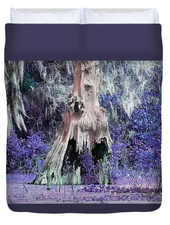 Bayou Duvet Cover featuring the photograph Purple Haze by Gina Welch