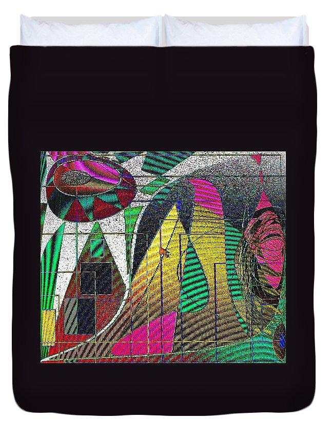 Purple Duvet Cover featuring the digital art Purple Haze by Ian MacDonald