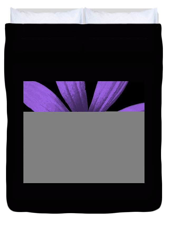 Still Life Duvet Cover featuring the photograph Purple Passion by Ed Smith