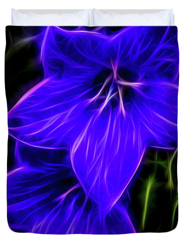 Purple Balloon Flower Duvet Cover featuring the photograph Purple Passion by Joann Copeland-Paul