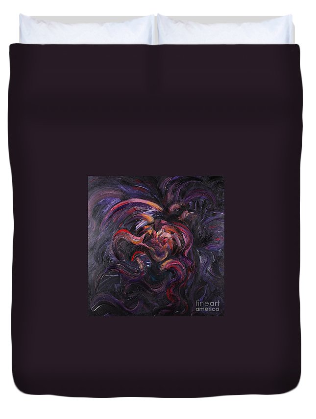 Purple Duvet Cover featuring the painting Purple Passion by Nadine Rippelmeyer