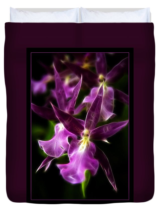 Flower Duvet Cover featuring the photograph Purple Passion by Ricky Barnard