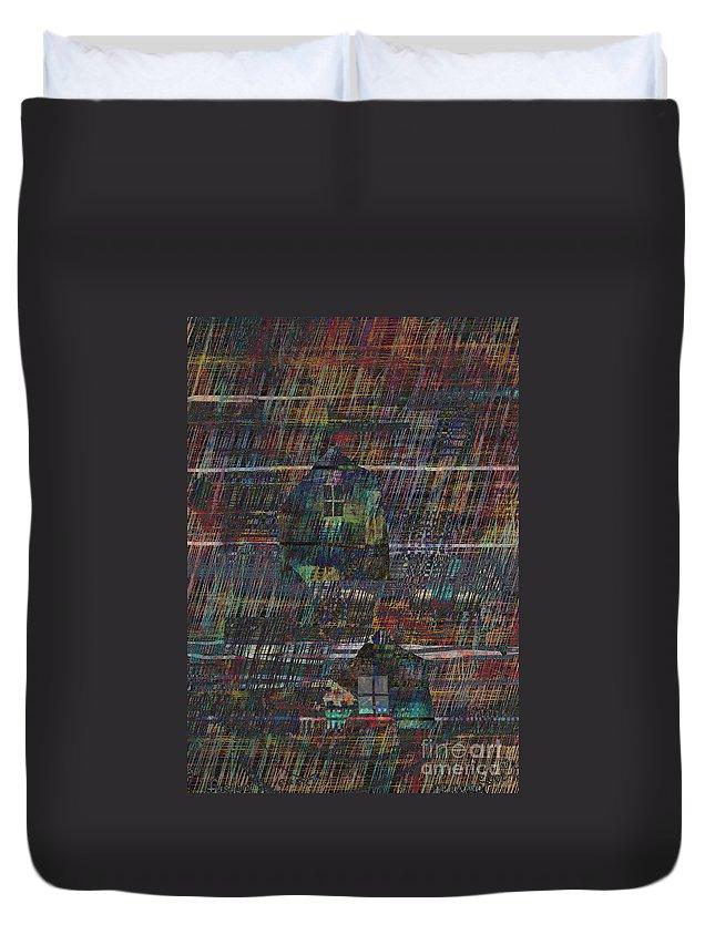 Rain Duvet Cover featuring the digital art Purple Rain by Andy Mercer