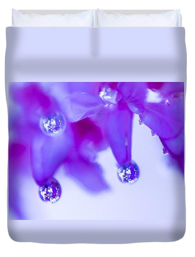 Fine Art Duvet Cover featuring the photograph Purple Rain Purple Rain by Darby Donaho