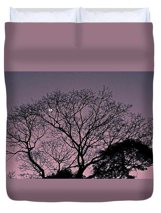 Landscape Duvet Cover featuring the photograph Purple Sunset by Fantho Audiovisual
