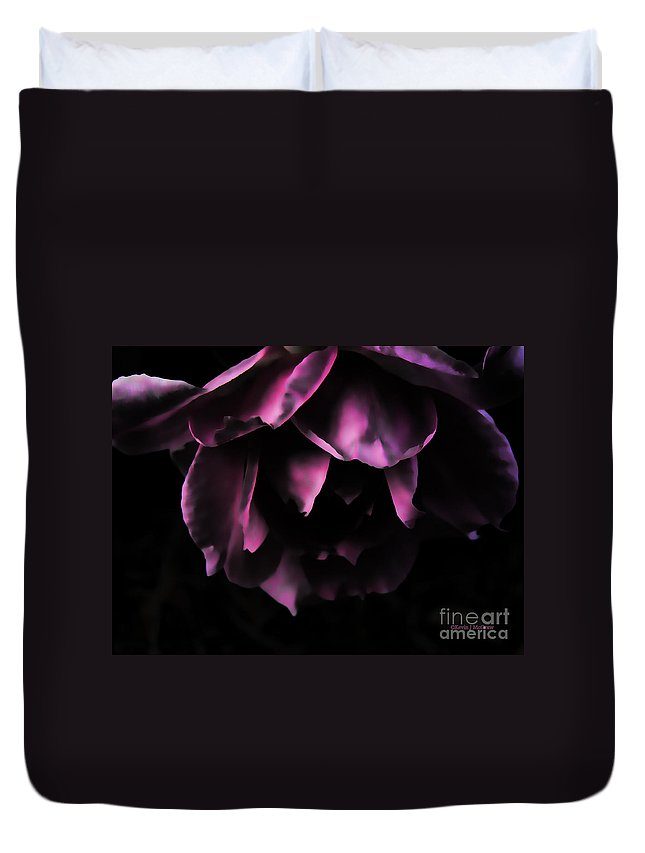 Roses Duvet Cover featuring the photograph Purple Velvet Rose by Kevin J McGraw