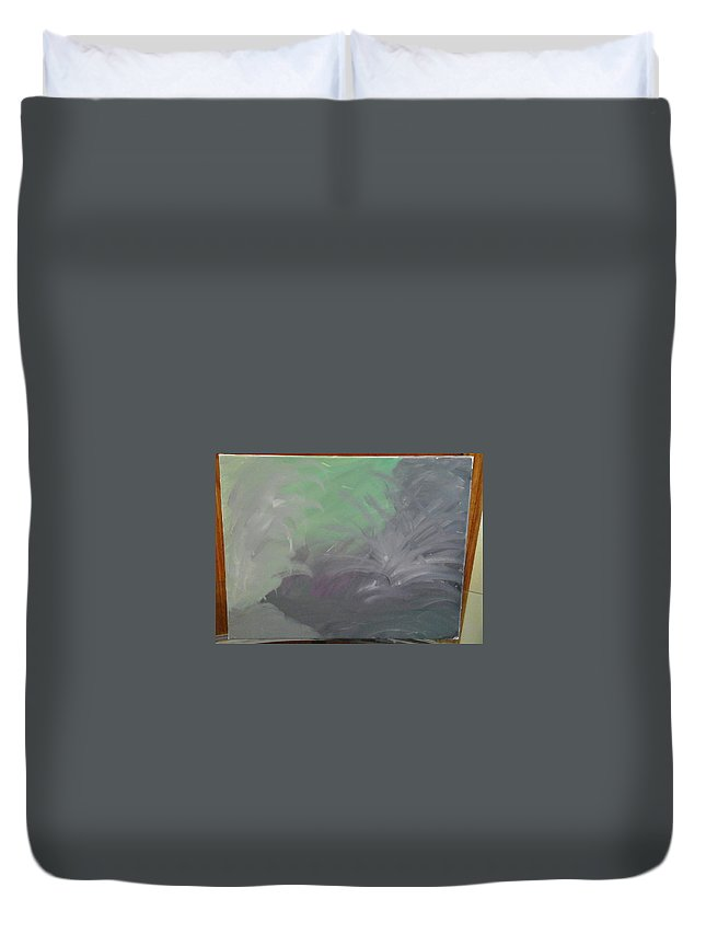 Purpleness Abstract Duvet Cover featuring the painting Purpleness by Mel B