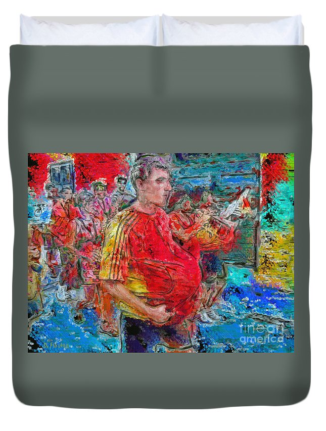 Fiesta Duvet Cover featuring the photograph Pushing The Envelope Or Under The Hood by Dee Flouton