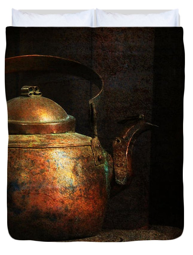 Kitchen Duvet Cover featuring the photograph Put The Kettle On by Lois Bryan