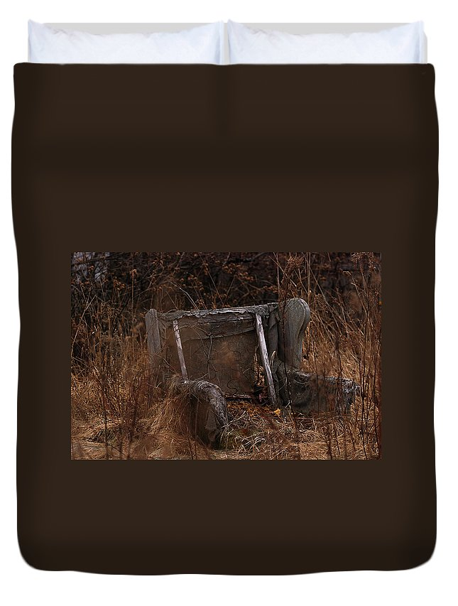 Chair Duvet Cover featuring the photograph Putting Down Roots by Susan Capuano