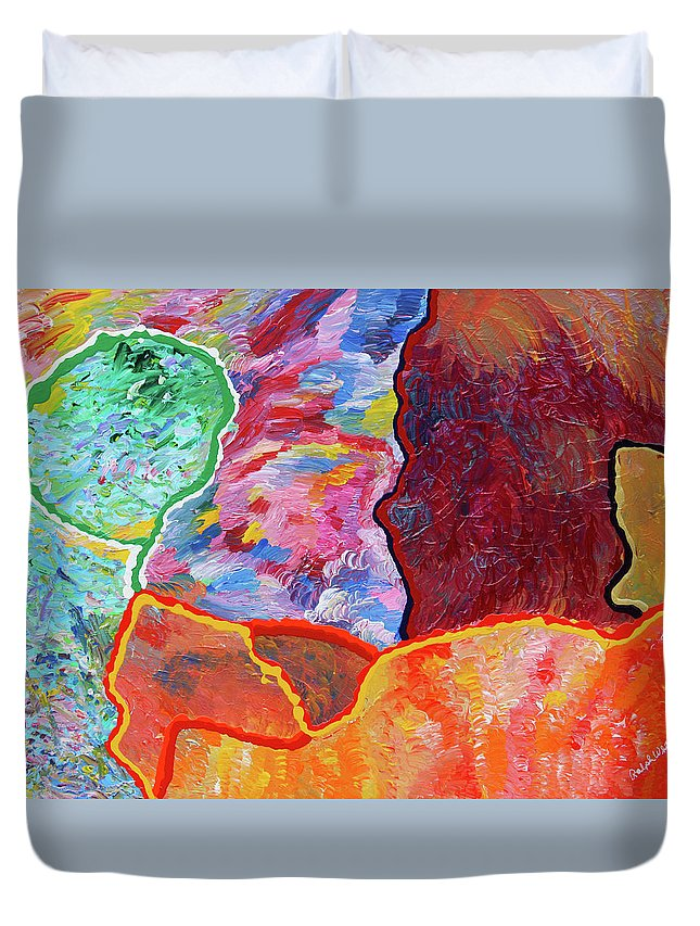 Fusionart Duvet Cover featuring the painting Puzzle by Ralph White