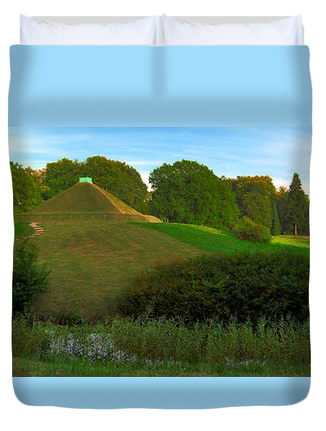 Landscape Park Duvet Cover featuring the photograph Pyramid In The Pueckler Park by Sun Travels