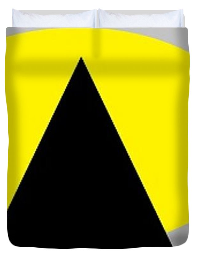 Pyramids Grey And Yellow 3 Duvet Cover For Sale By Linda