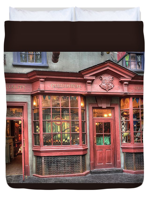 Amusement Parks Duvet Cover featuring the photograph Quality Quidditch Supplies by Jim Thompson