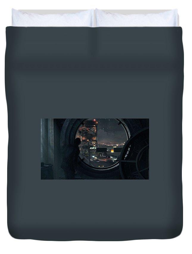 Quantum Break Duvet Cover featuring the digital art Quantum Break by Bert Mailer