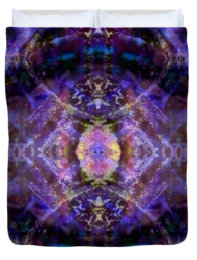 Digital Duvet Cover featuring the digital art Quantum Orb by Roy Hummel