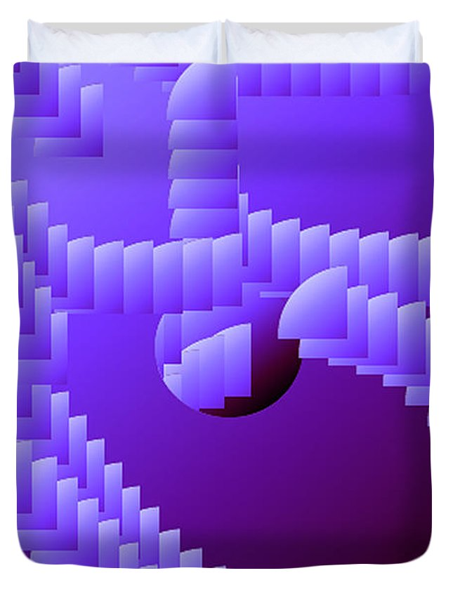 Digital Duvet Cover featuring the digital art Quarter Shell by Ron Bissett