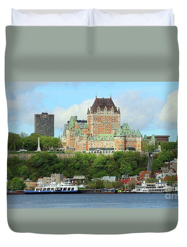 Quebec City Duvet Cover featuring the photograph Quebec City Waterfront 6324 by Jack Schultz