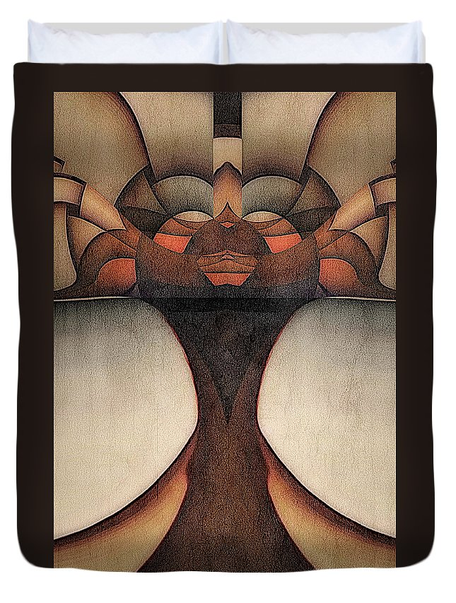 Africa Duvet Cover featuring the painting Queen Of Africa by Barry W King