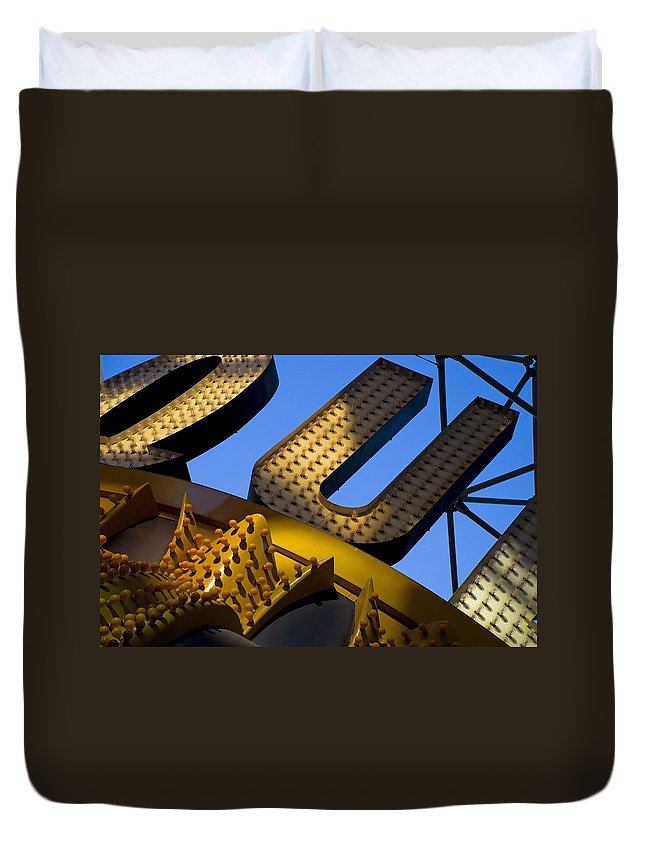 Architecture Duvet Cover featuring the photograph Queen of Hearts by Skip Hunt