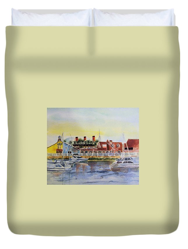 Watercolor Duvet Cover featuring the painting Queen Of The Shore by Debbie Lewis