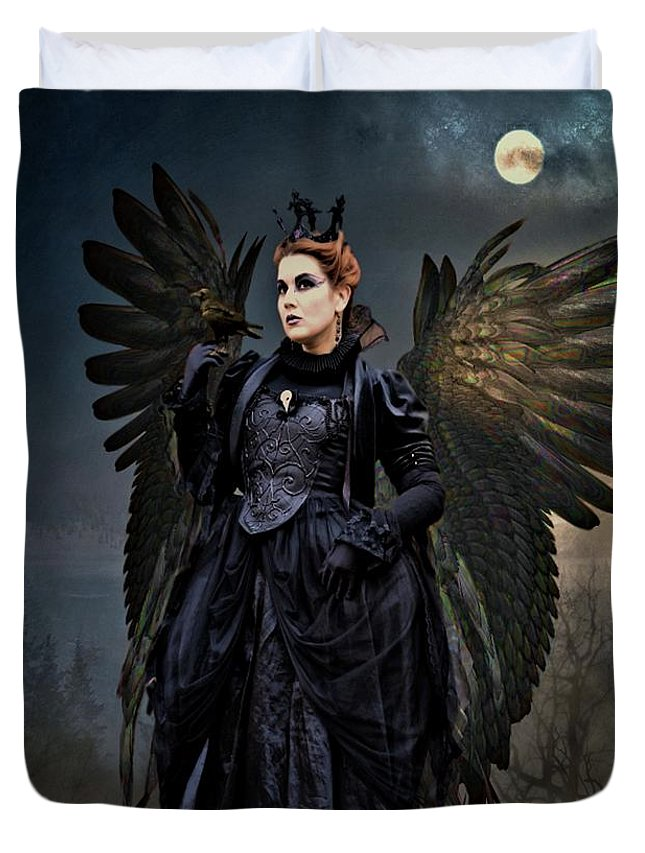 G Berry Duvet Cover featuring the photograph Queen Raven by G Berry