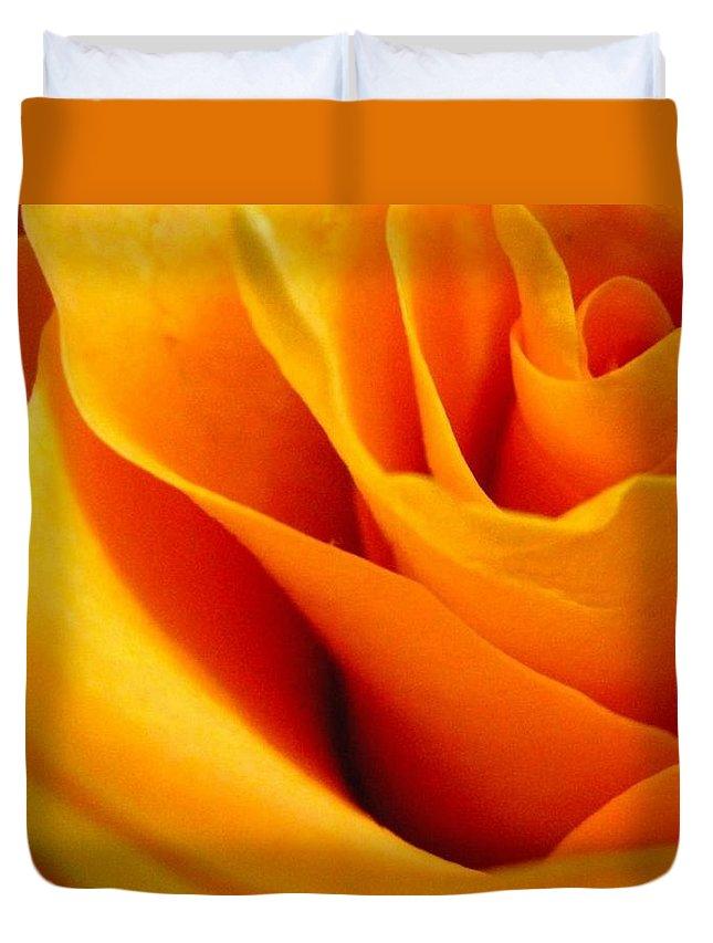 Rose Duvet Cover featuring the photograph Queen Rose by Rhonda Barrett