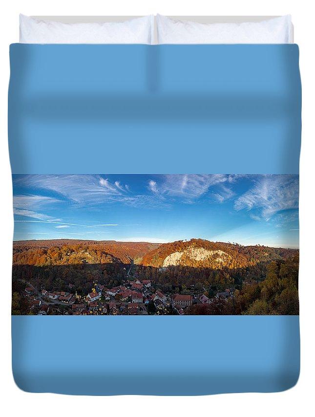 Questenberg Duvet Cover featuring the photograph Questenberg, Suedharz by Andreas Levi