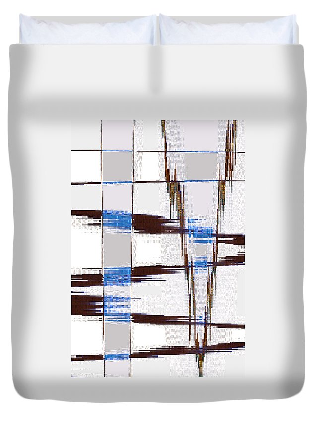 Abstract Duvet Cover featuring the digital art Quiet Abstract by Lenore Senior